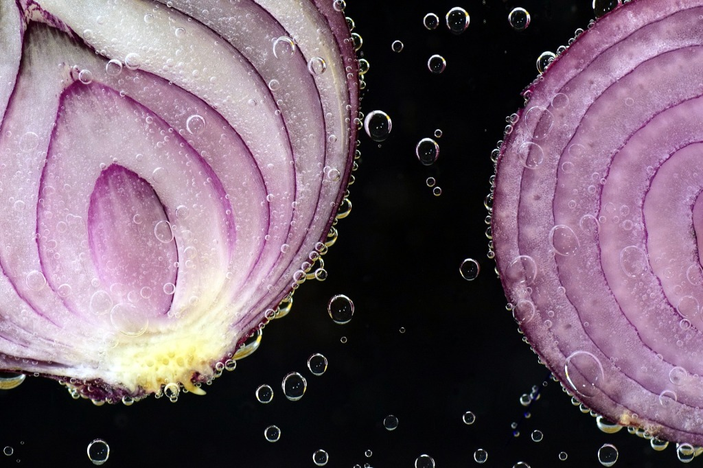 red onion to show the layers of a story