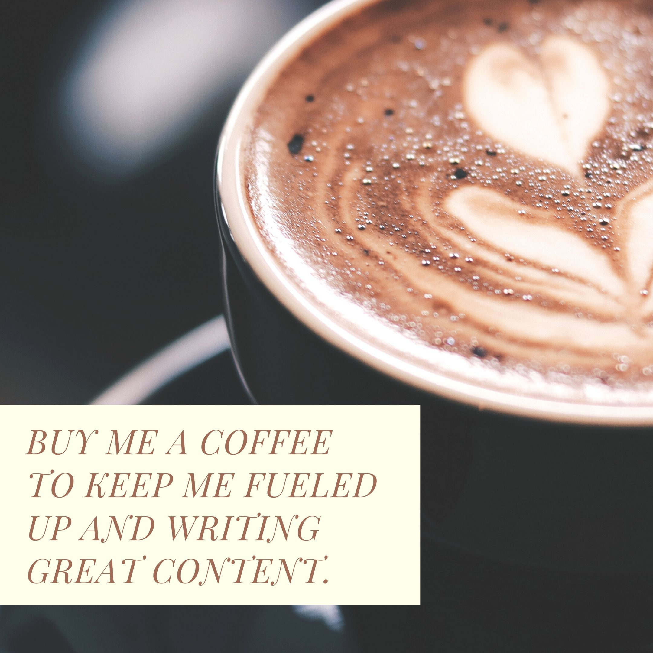 Buy me a coffee?